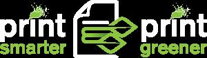 Print-Smarter-Print-Greener Logo - white